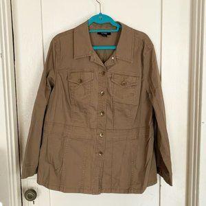 Khaki Utility Jacket 16W